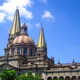 Projects Abroad Mexico volunteers and interns can explore Guadalajara Cathedral during their time off